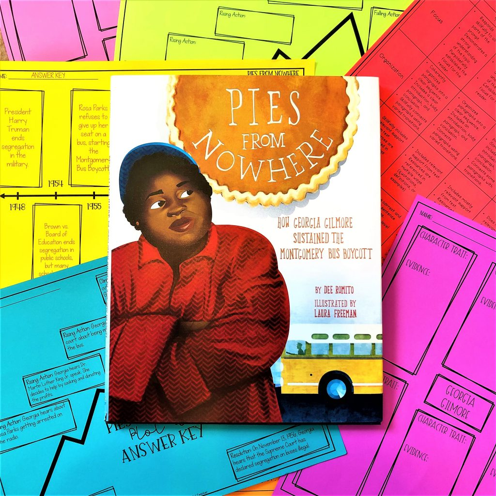 Pies from Nowhere by Dee Romito to teach the CIvil Rights Movement