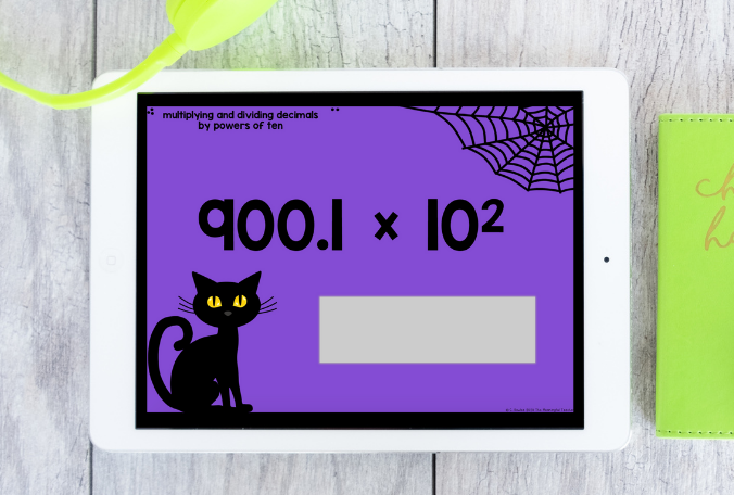 Digital Halloween classroom activities multiplying and dividing decimals by powers of ten